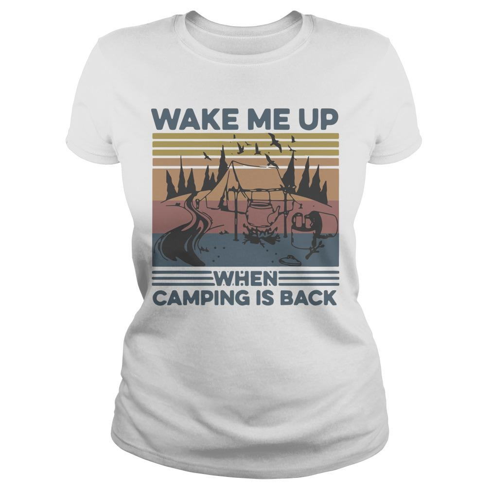 Vintage Wake Me Up When Camping Is Back Longsleeve