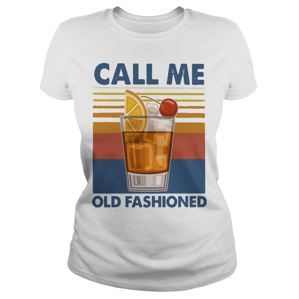 Vintage Wine Call Me Old Fashioned Longsleeve