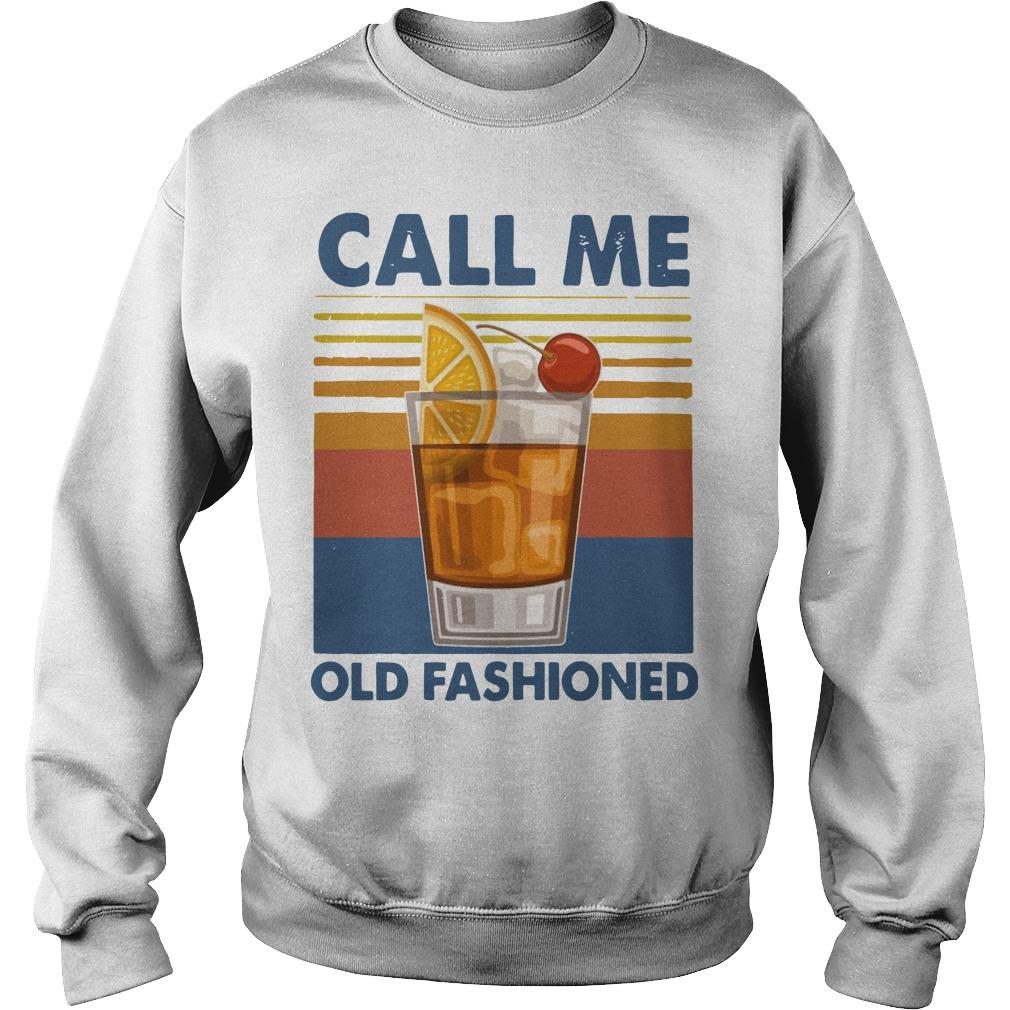 Vintage Wine Call Me Old Fashioned Sweater