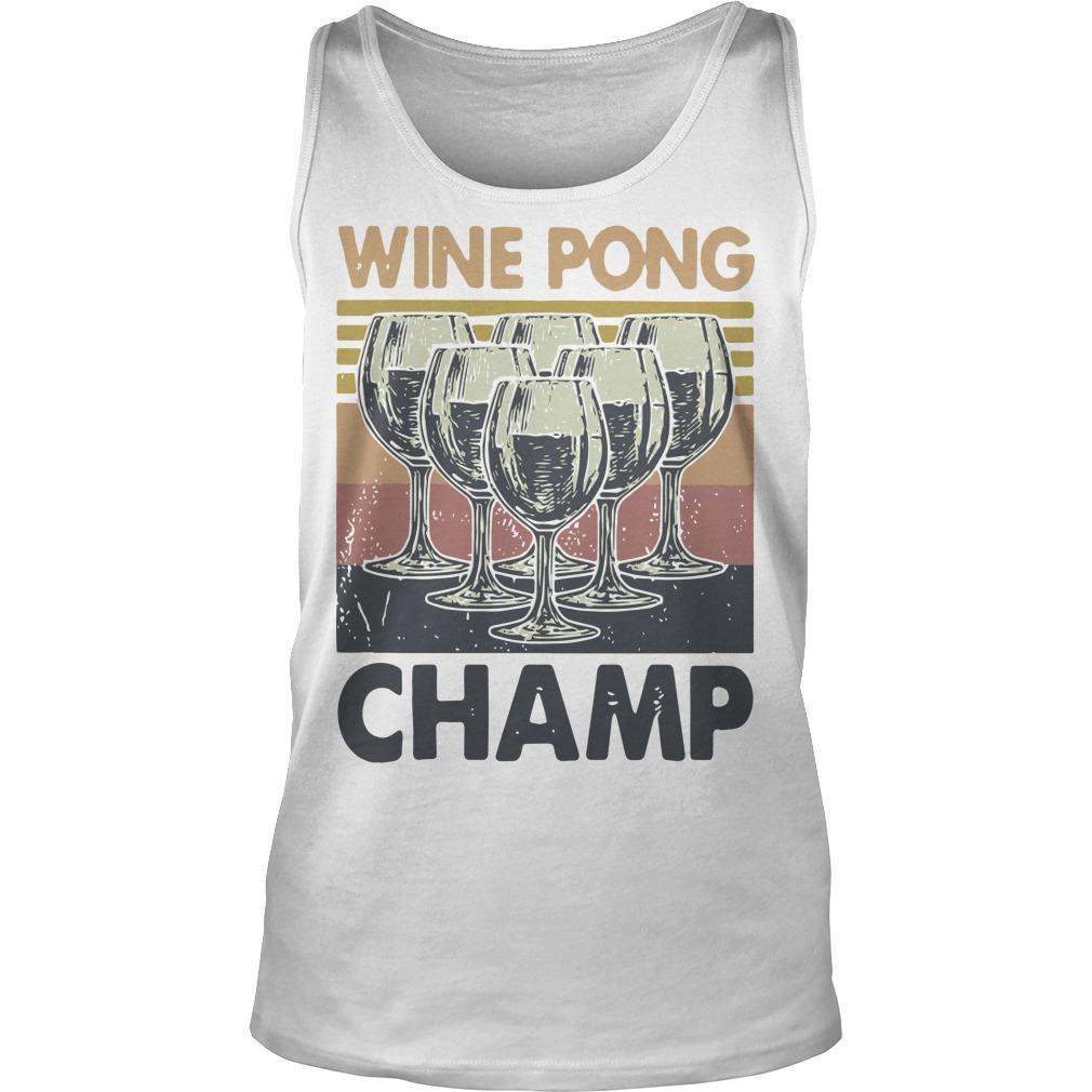 Vintage Wine Pong Champ Tank Top