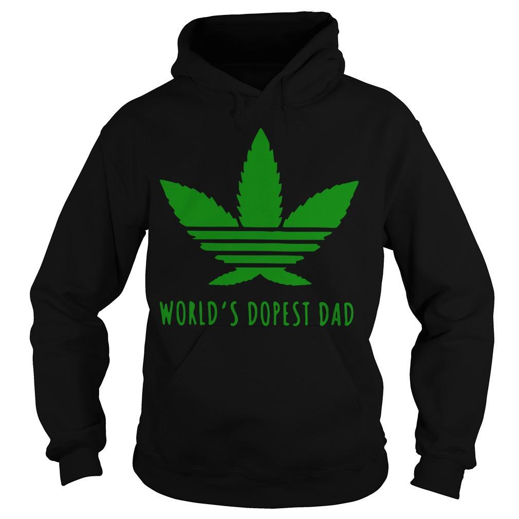 Adidas Weed Cannabis World's Dopest Dad Hoodie