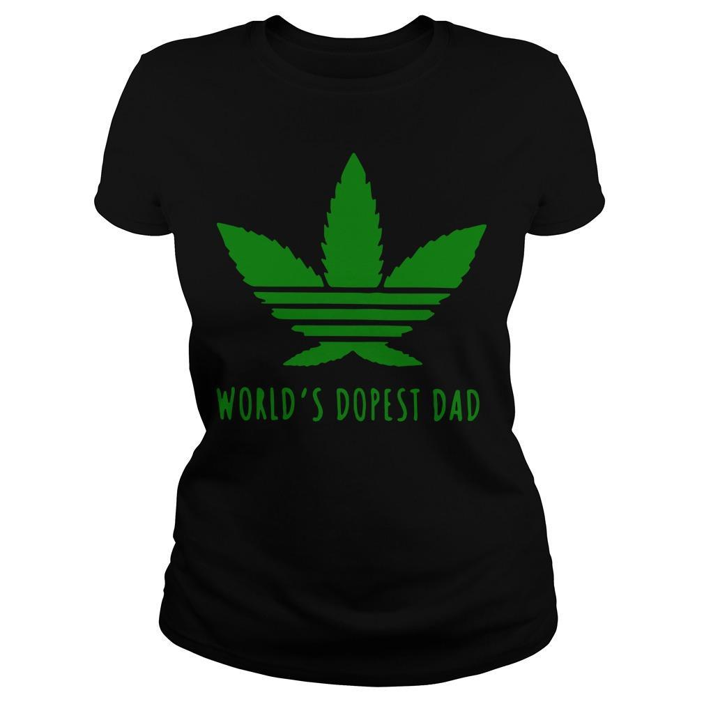 Adidas Weed Cannabis World's Dopest Dad Longsleeve