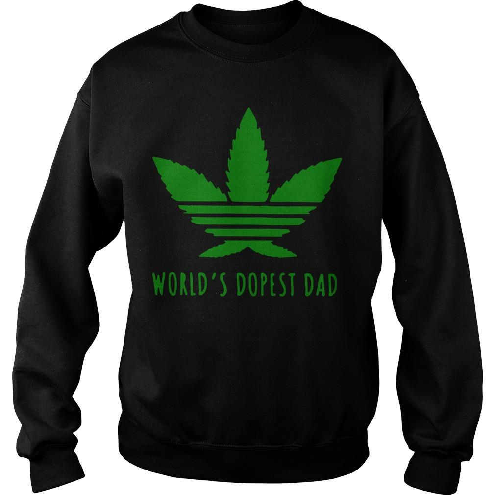 Adidas Weed Cannabis World's Dopest Dad Sweater