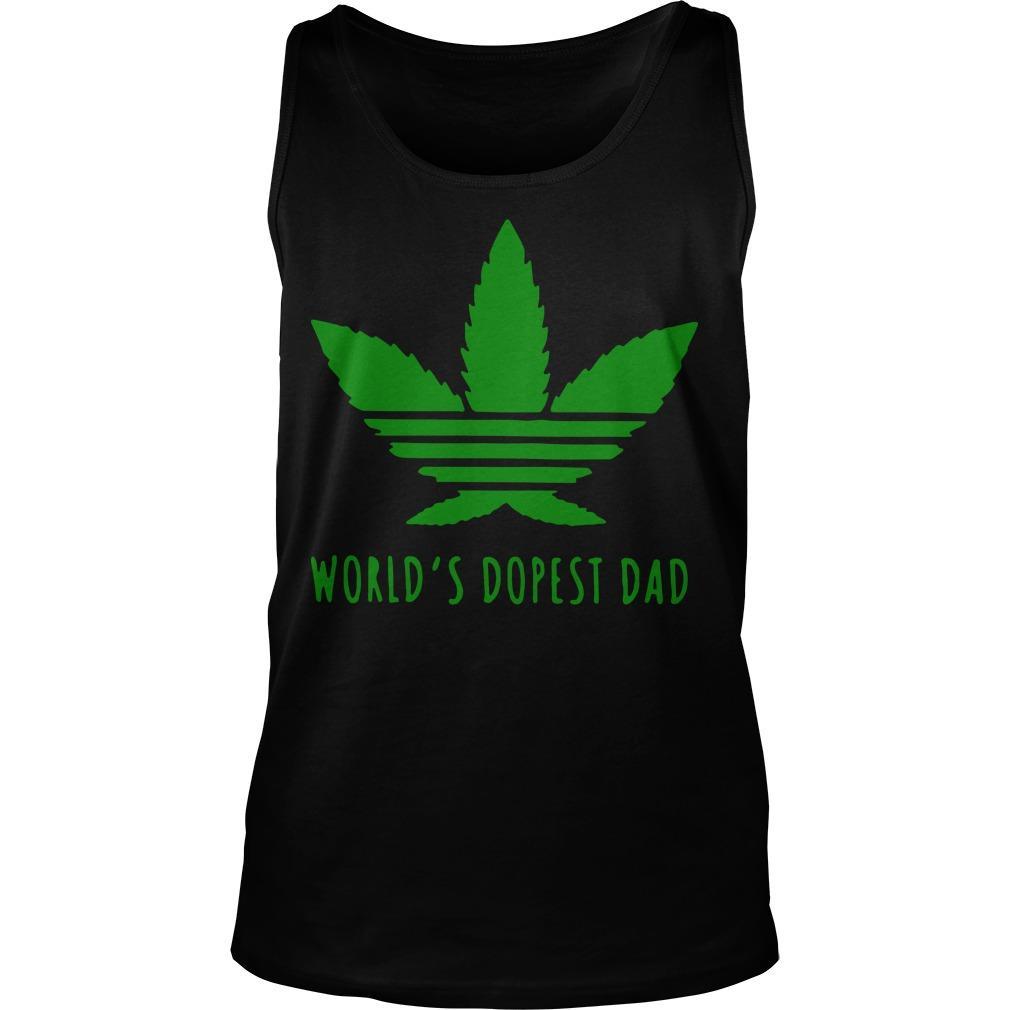 Adidas Weed Cannabis World's Dopest Dad Tank Top