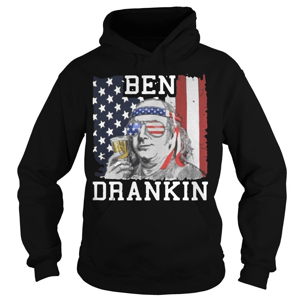 American Flag Ben Drankin Hoodie