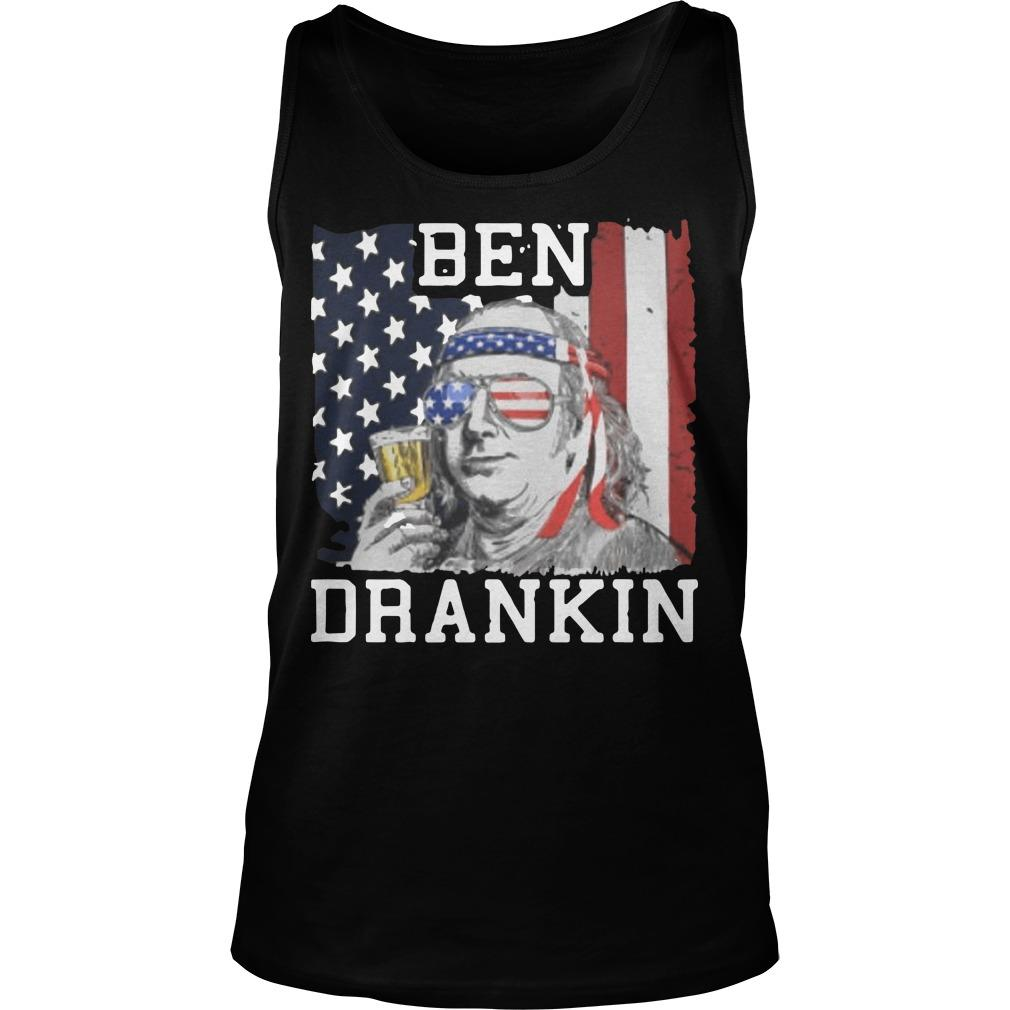 American Flag Ben Drankin Tank Top