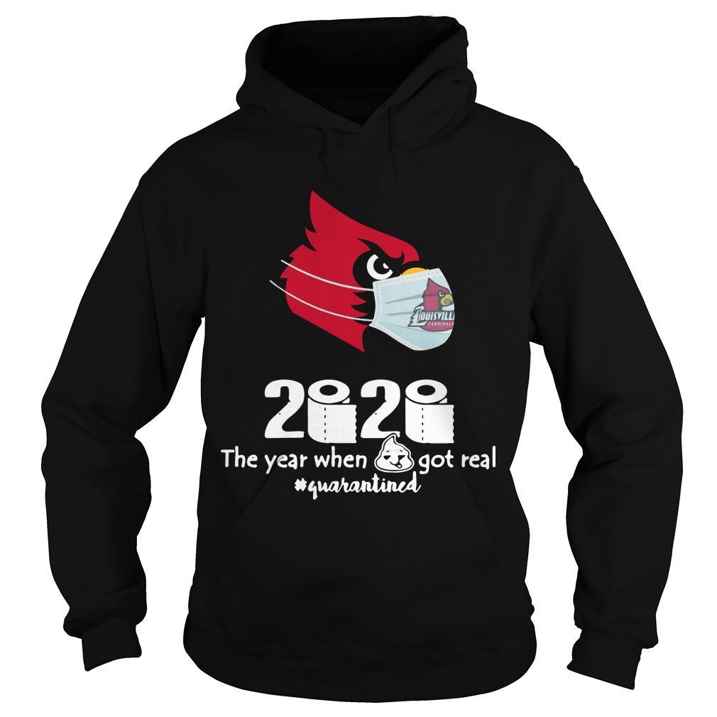 Arizona Cardinals Mask 2020 The Year When Shit Got Real Quarantined Hoodie