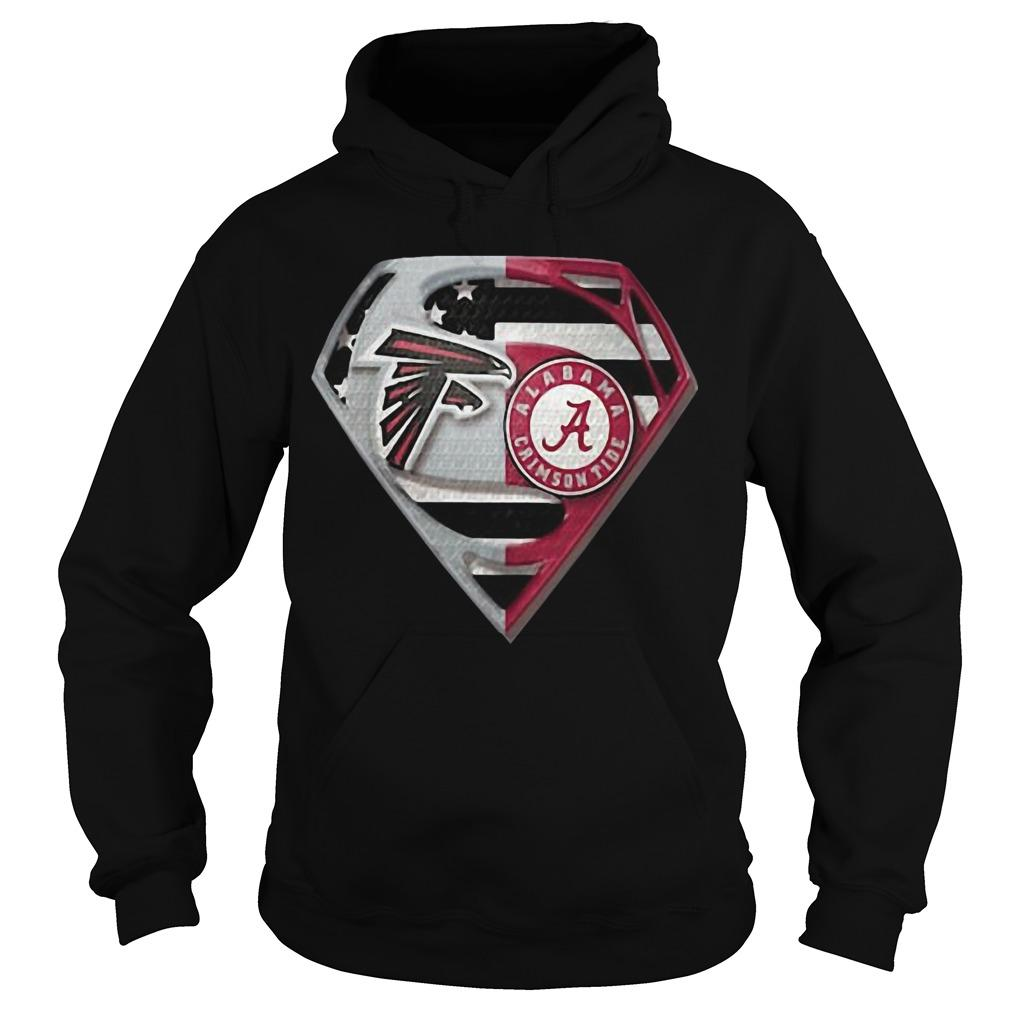 Atlanta Falcons And Alabama Crimson Tide Superman Hoodie