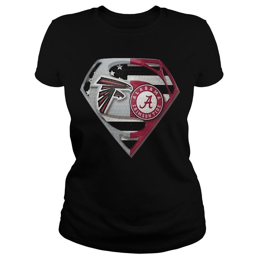 Atlanta Falcons And Alabama Crimson Tide Superman Longsleeve