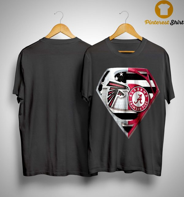 Atlanta Falcons And Alabama Crimson Tide Superman Shirt