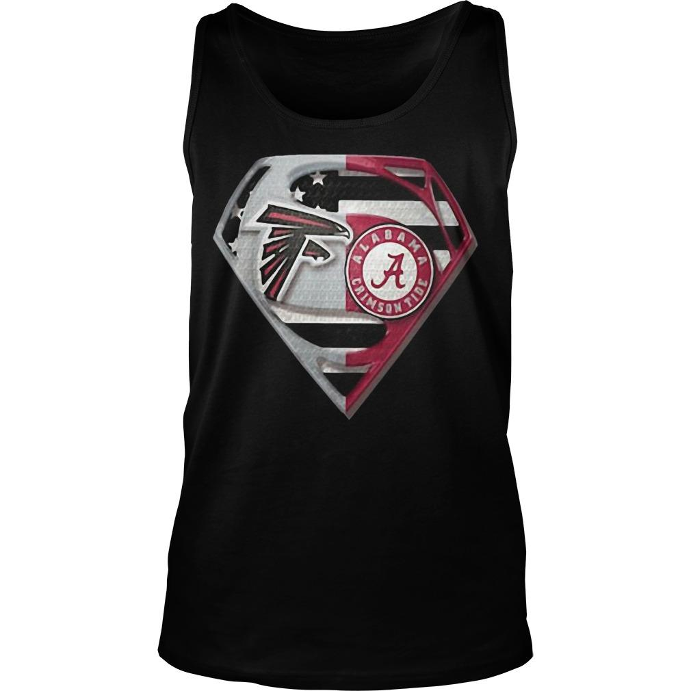Atlanta Falcons And Alabama Crimson Tide Superman Tank Top