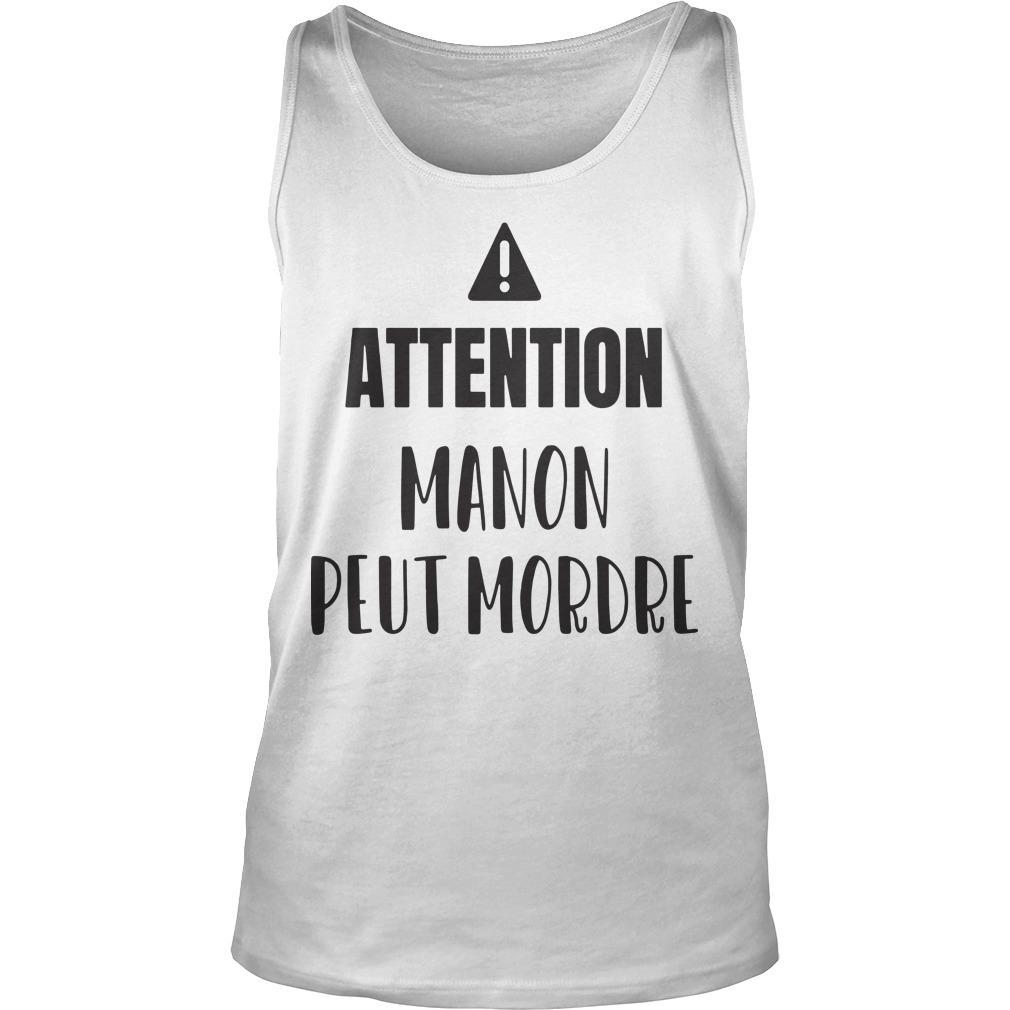 Attention Manon Peut Mordre Tank Top