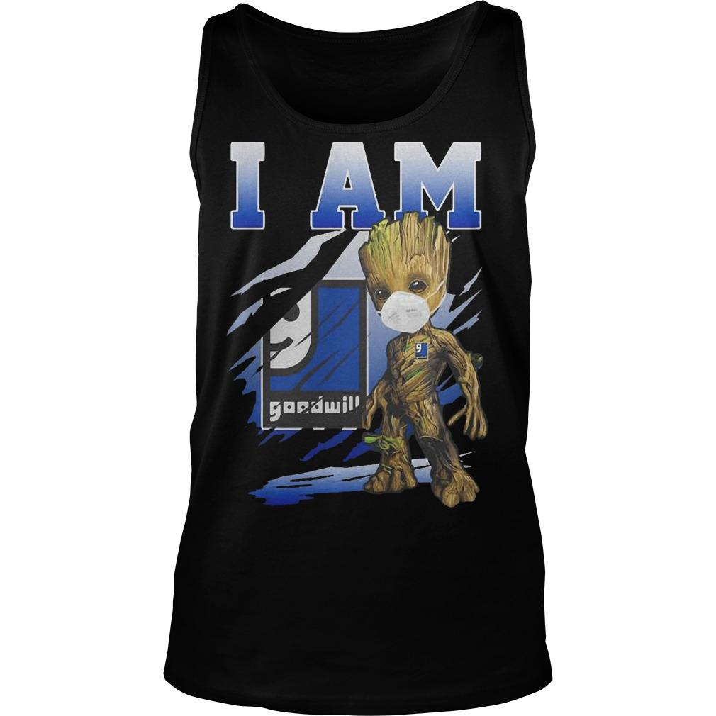 Baby Groot Face Mask I Am Goodwill Tank Top