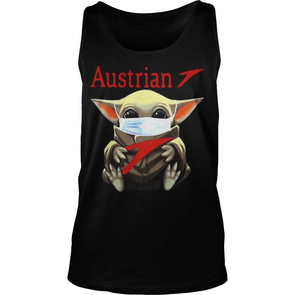 Baby Yoda Mask Hugging Austrian Tank Top