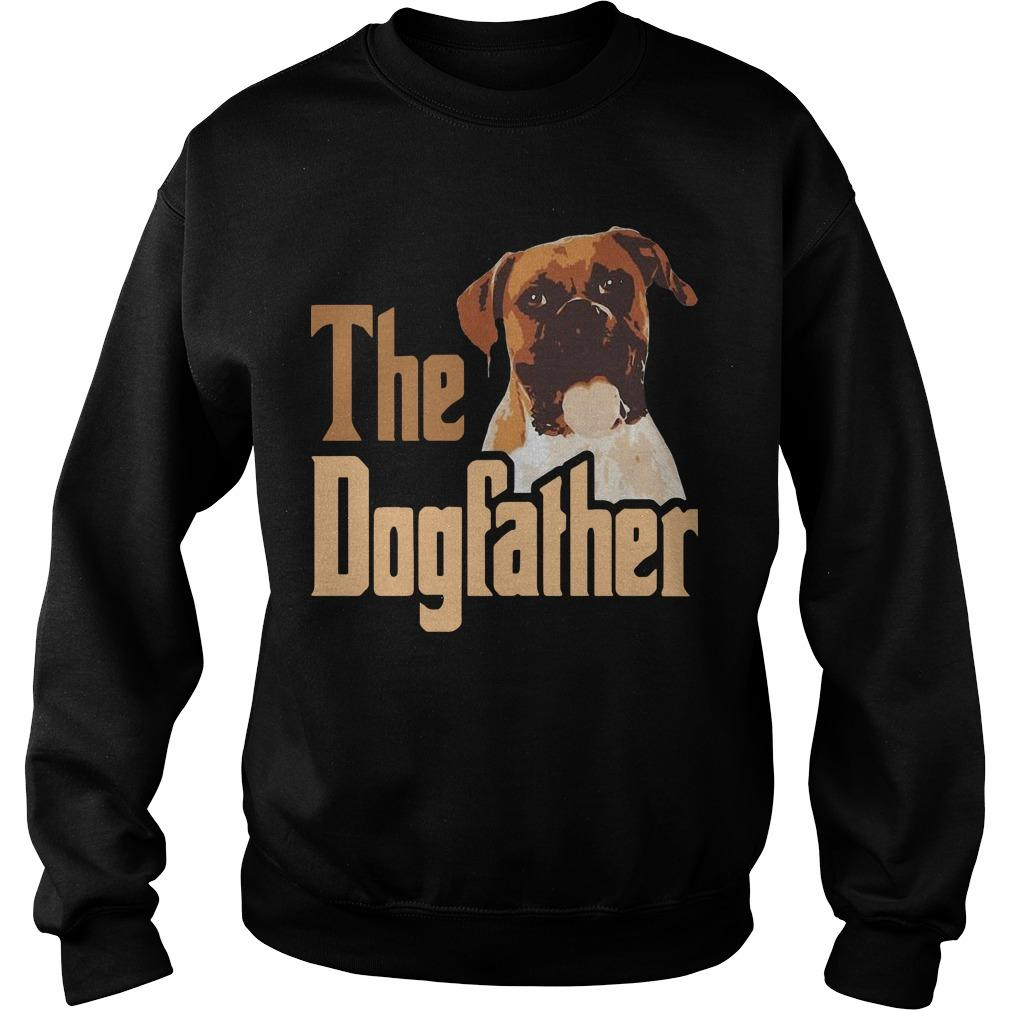 Boxer The Dogfather Father Sweater