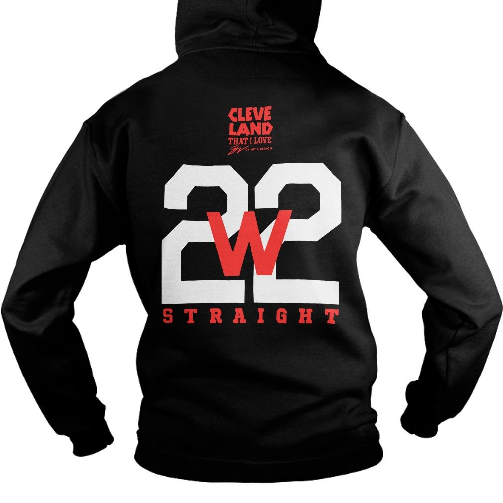 Cleveland Indians Making History 22 Straight Hoodie