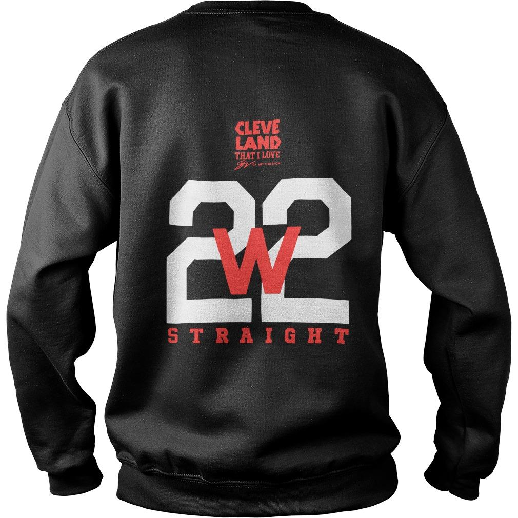Cleveland Indians Making History 22 Straight Sweater