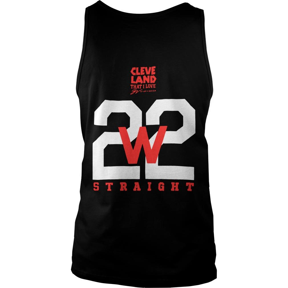 Cleveland Indians Making History 22 Straight Tank Top