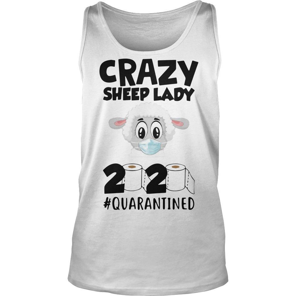 Crazy Sheep Lady 2020 Quarantined Tank Top