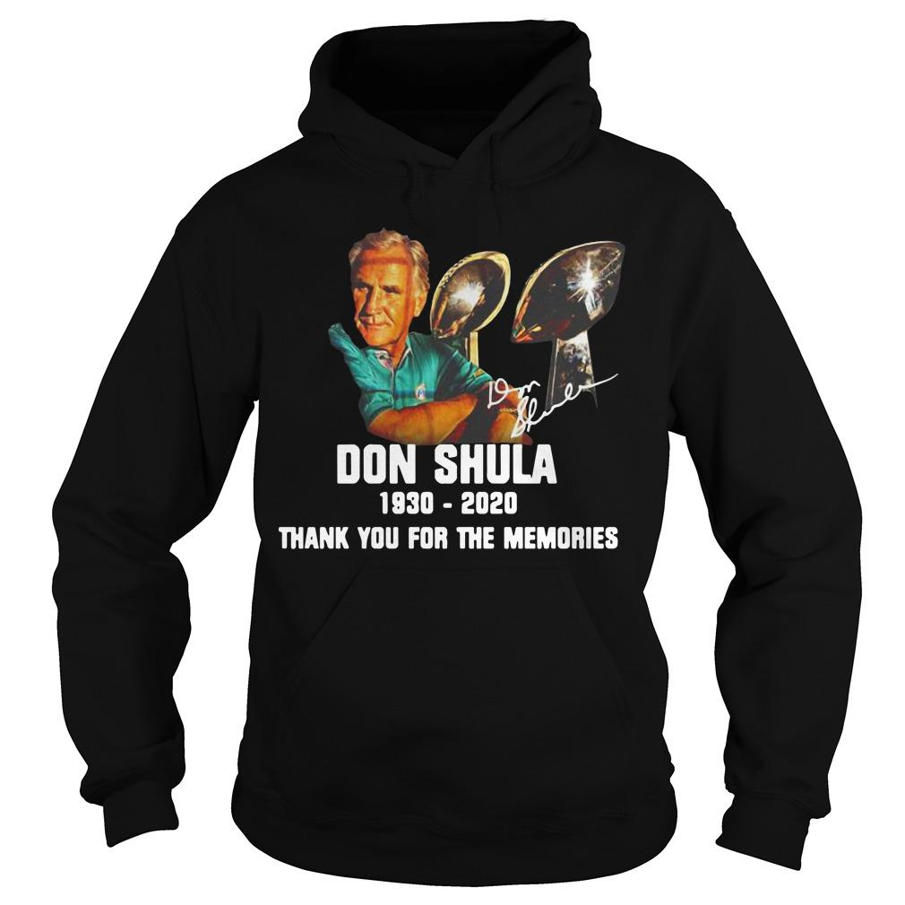 Don Shula 1930 2020 Thank You For The Memories Hoodie