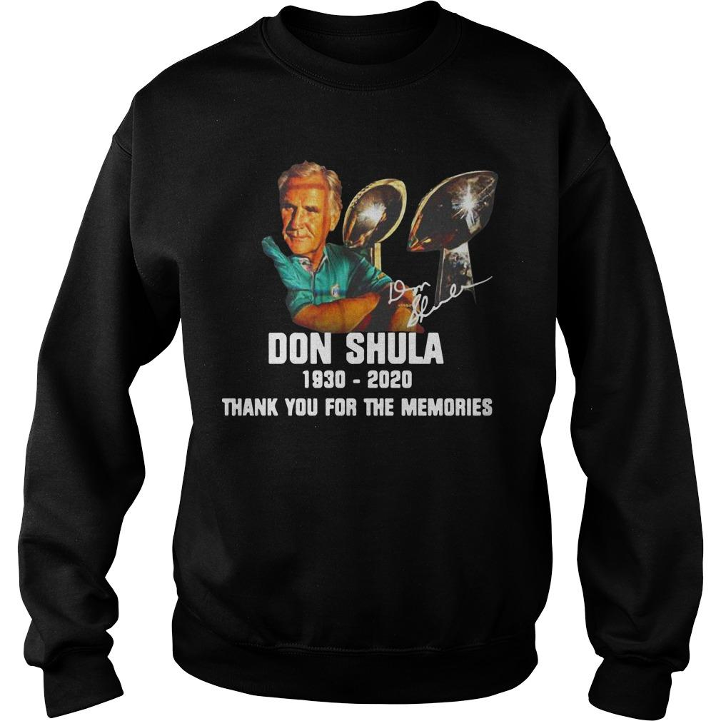 Don Shula 1930 2020 Thank You For The Memories Sweater