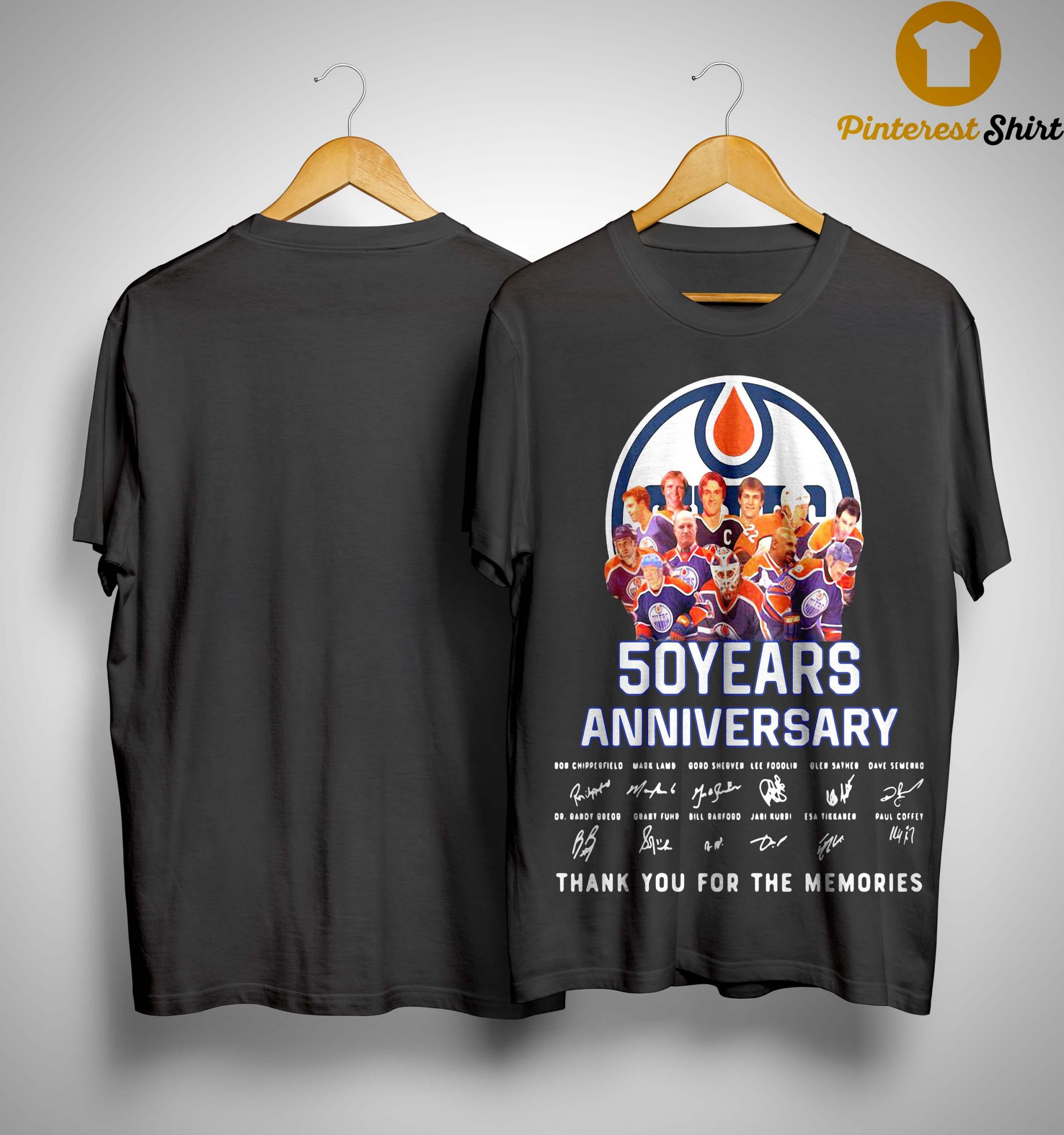 Edmonton Oilers 50 Years Anniversary Thank You For The Memories Shirt
