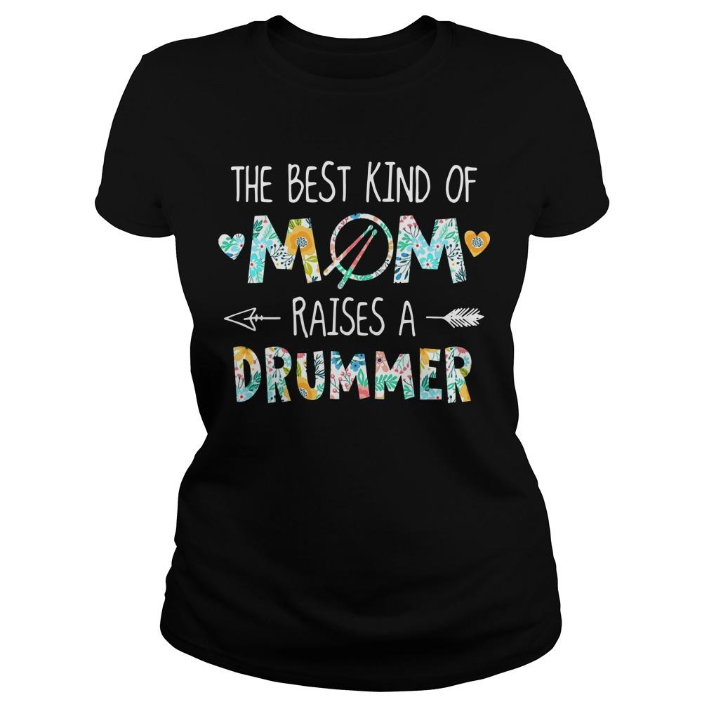 Floral The Best Kind Of Mom Raises A Drummer Longsleeve