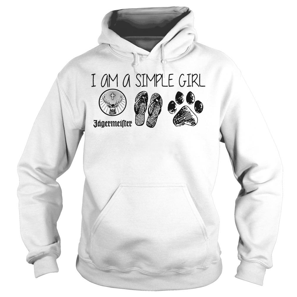 I Am A Simple Girl Jagermeister Flop Paw Hoodie
