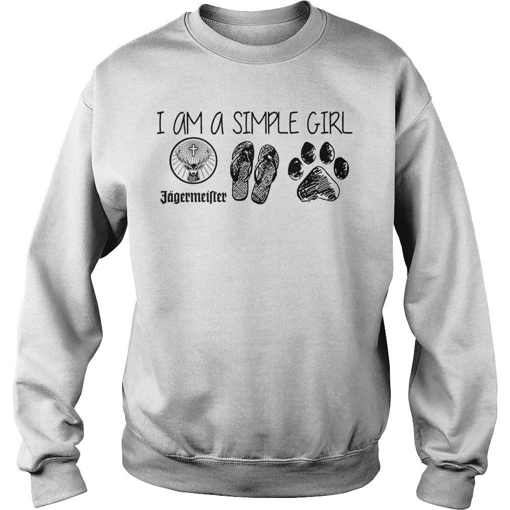 I Am A Simple Girl Jagermeister Flop Paw Sweater