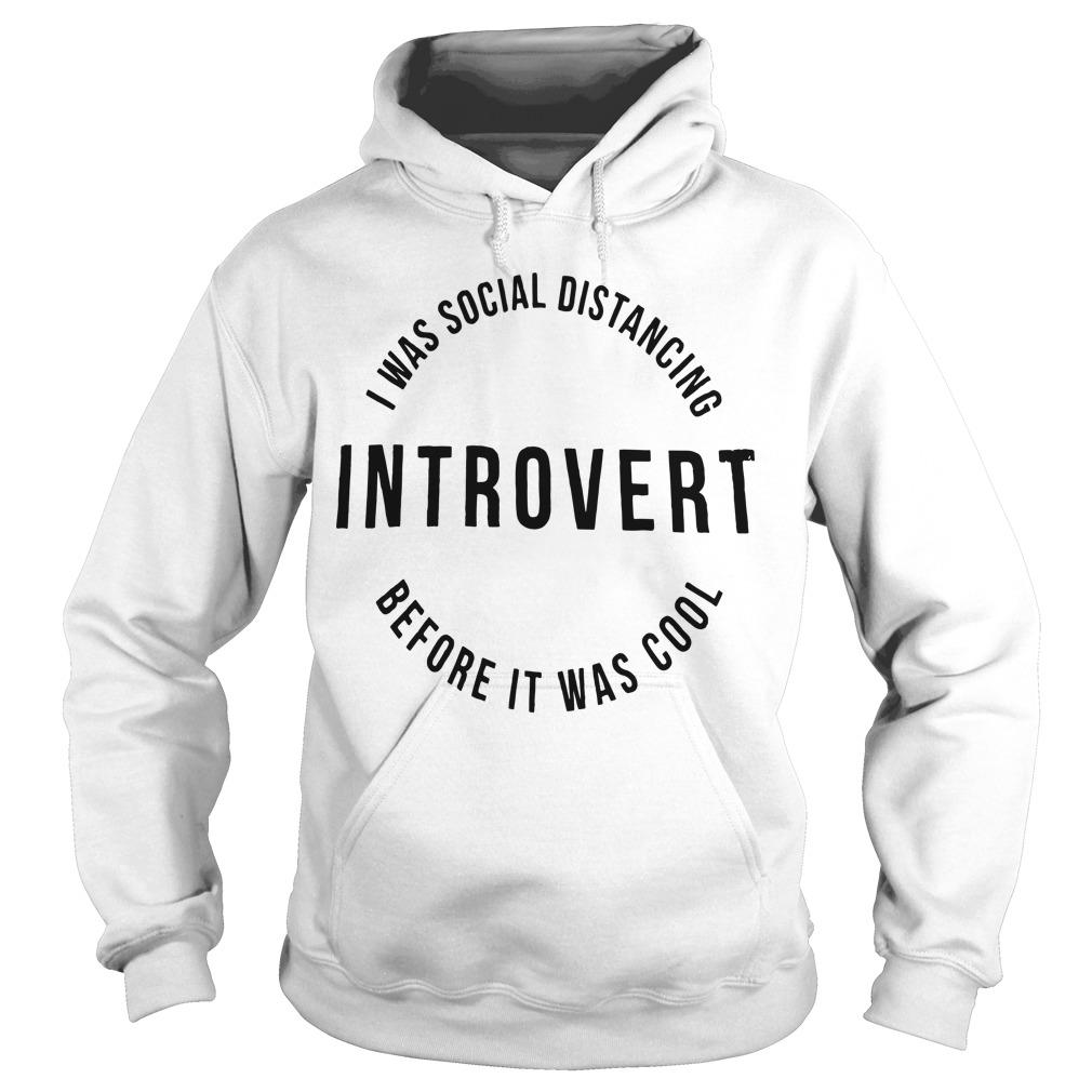 I Was Social Distancing Introvert Before It Was Cool Hoodie