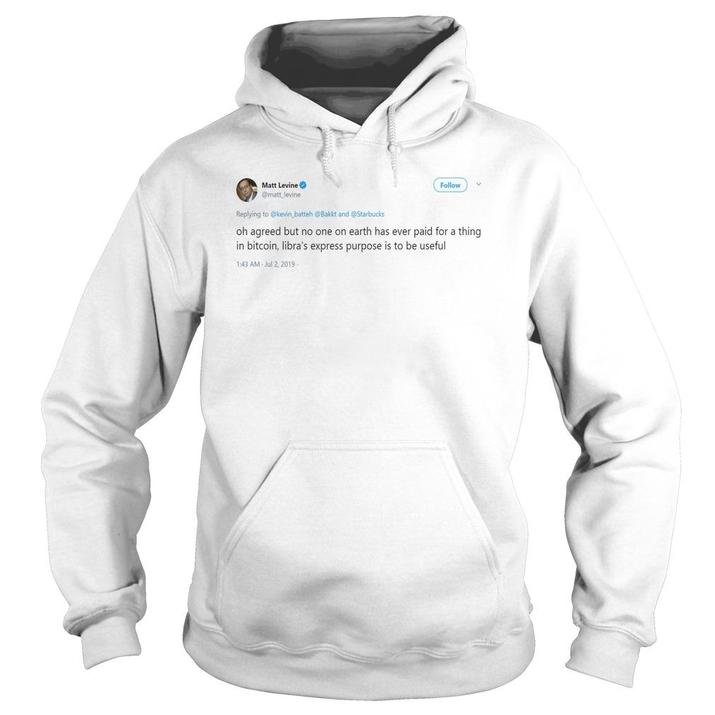 Matt Levine Status Oh Agreed But No One On Earth Has Ever Paid Hoodie