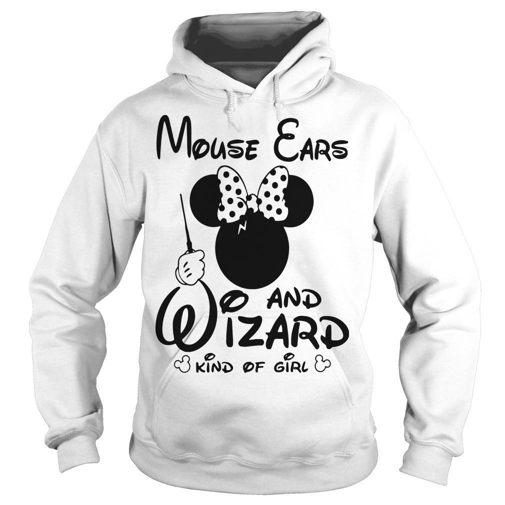 Minnie Mouse Ears And Wizard Kind Of Girl Hoodie