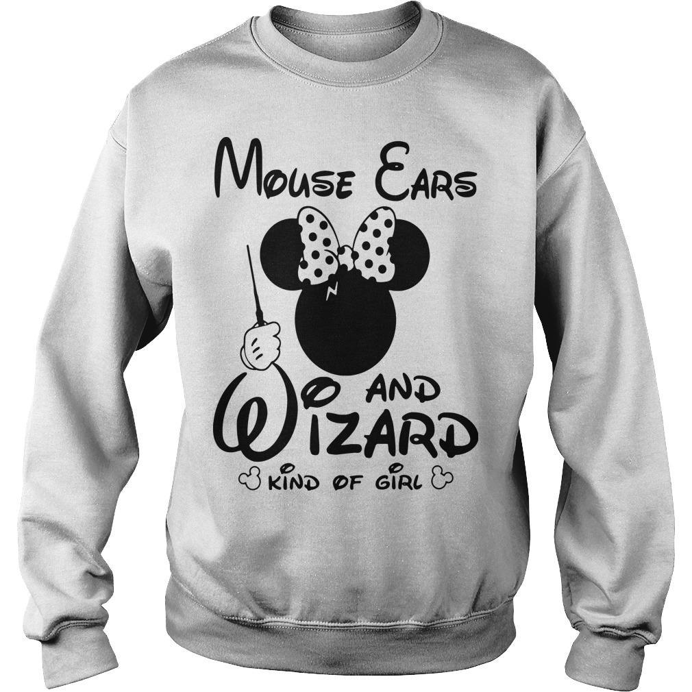 Minnie Mouse Ears And Wizard Kind Of Girl Sweater