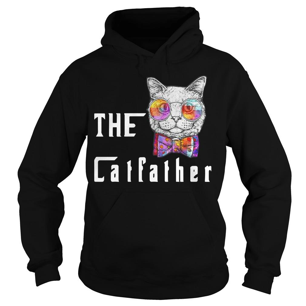 Nerd Cat With Glasses And Bow The Catfather Hoodie