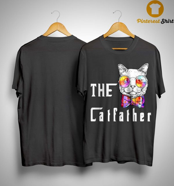 Nerd Cat With Glasses And Bow The Catfather Shirt