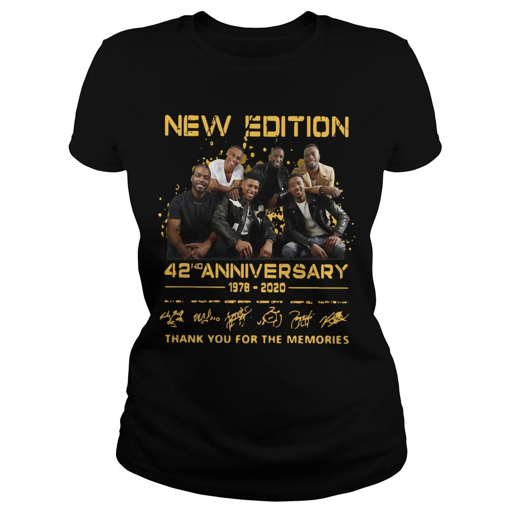 New Edition 42nd Anniversary 1978 2020 Thank You For The Memories Longsleeve