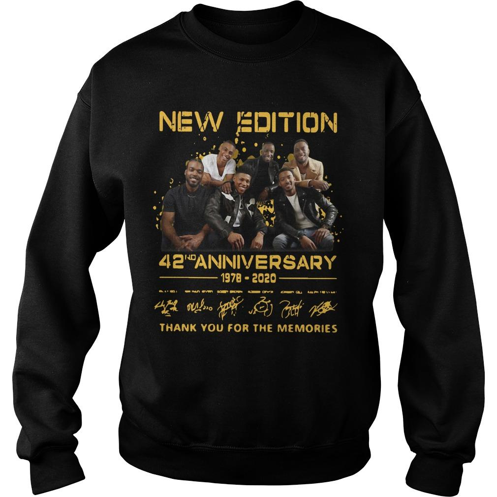 New Edition 42nd Anniversary 1978 2020 Thank You For The Memories Sweater