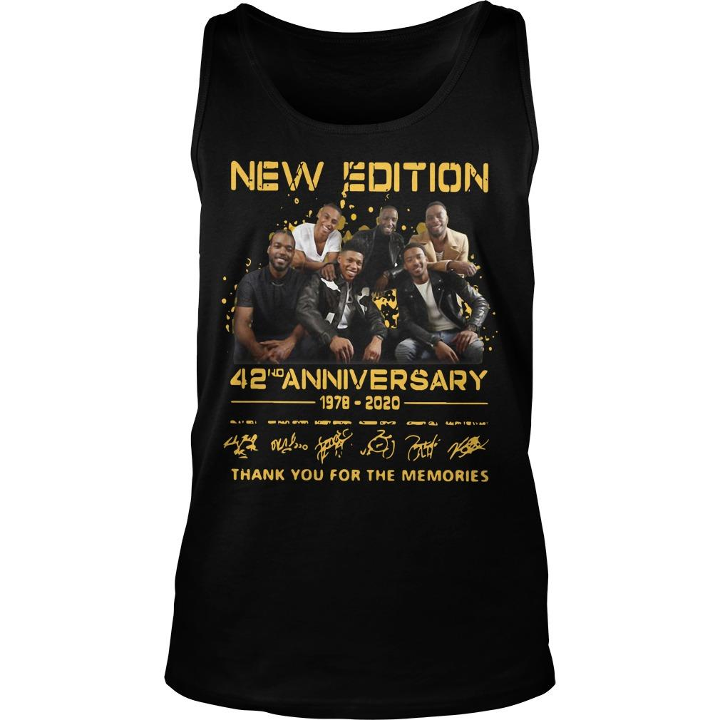 New Edition 42nd Anniversary 1978 2020 Thank You For The Memories Tank Top