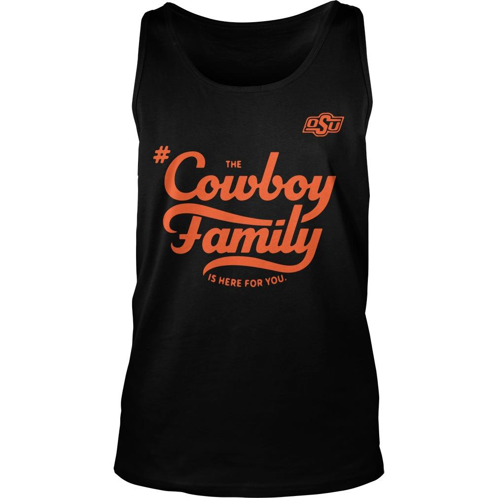 Osu The Cowboy Family Is Here For You Tank Top