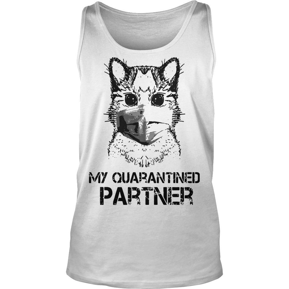 Raccoon Face Mask My Quarantined Partner Tank Top