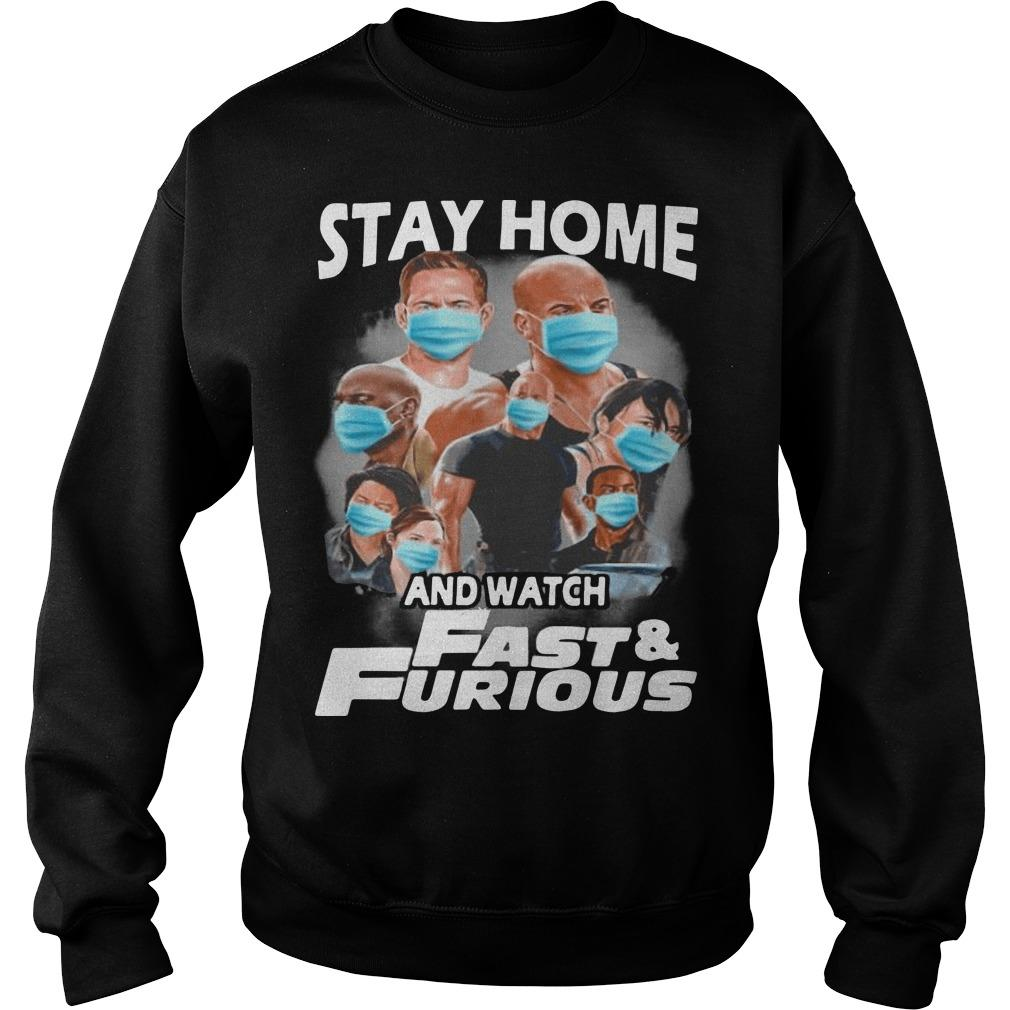 Stay Home And Watch Fast And Furious Sweater