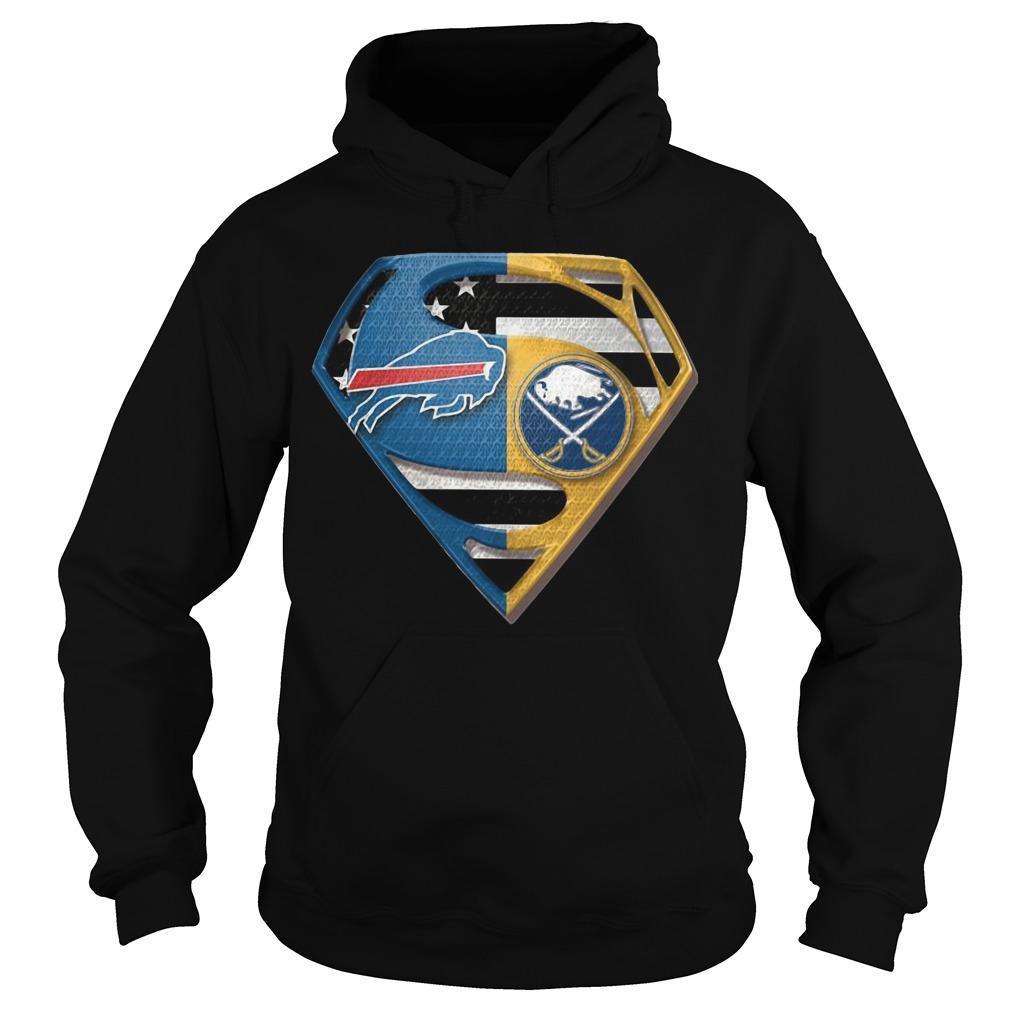Superman Buffalo Bills And Buffalo Sabres Hoodie