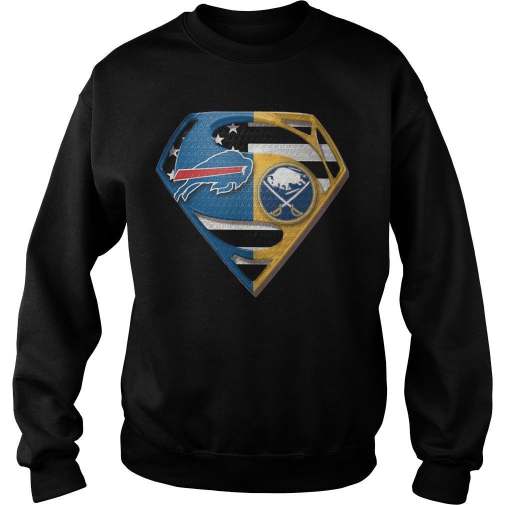 Superman Buffalo Bills And Buffalo Sabres Sweater