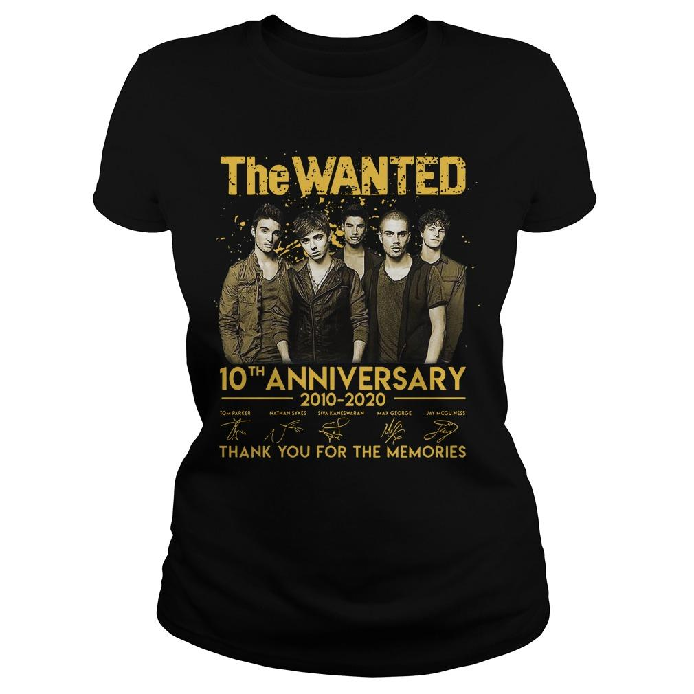 The Wanted 10th Anniversary 2010 2020 Thank You For The Memories Signatures Longsleeve