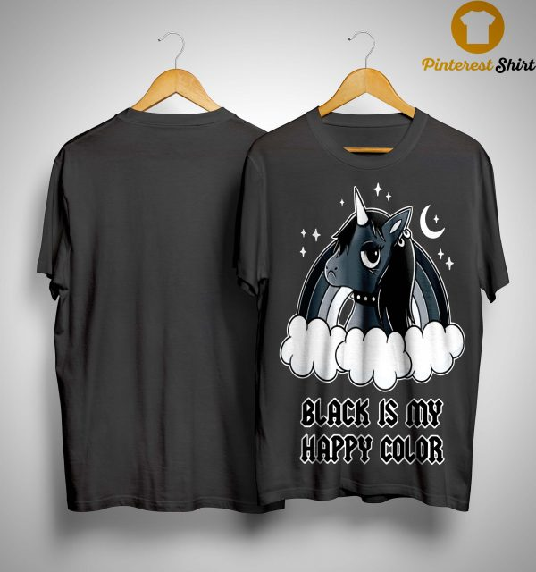Unicorn Black Í My Happy Color Shirt