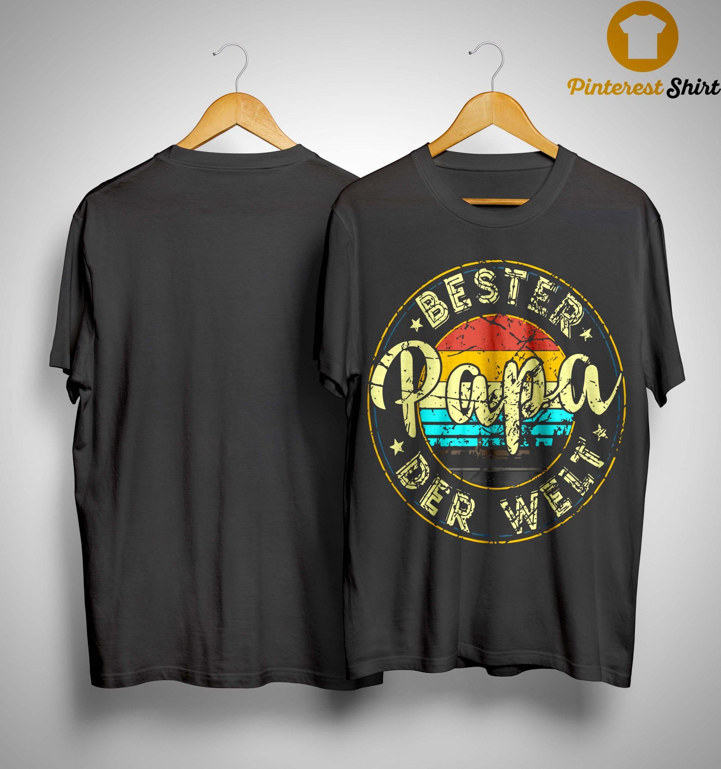 Vintage Bester Papa Der Welt Shirt