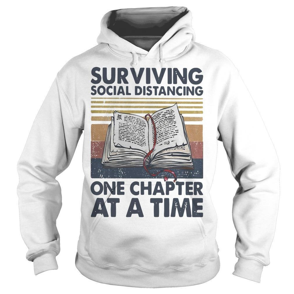Vintage Book Surviving Social Distancing One Chapter At A Time Hoodie