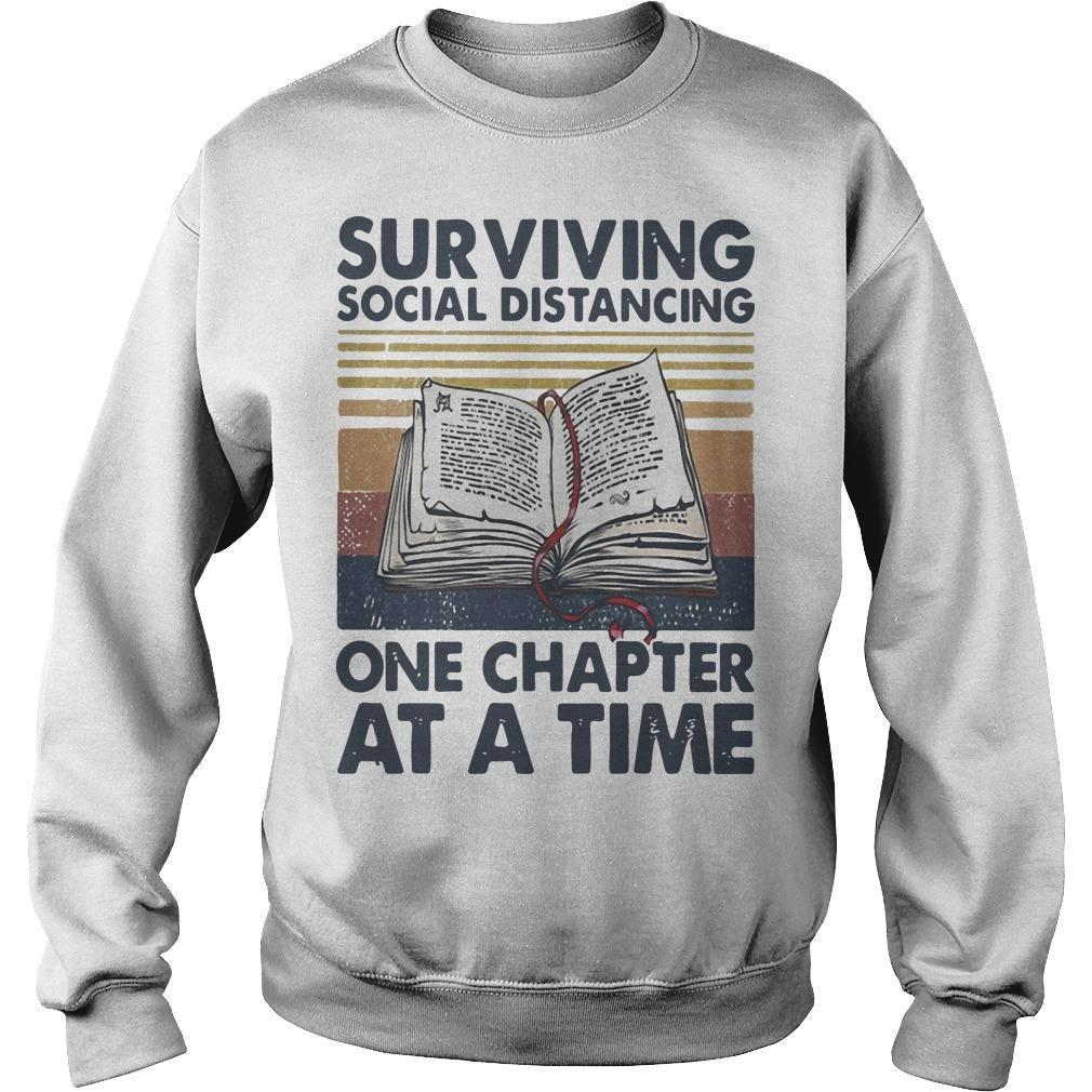 Vintage Book Surviving Social Distancing One Chapter At A Time Sweater