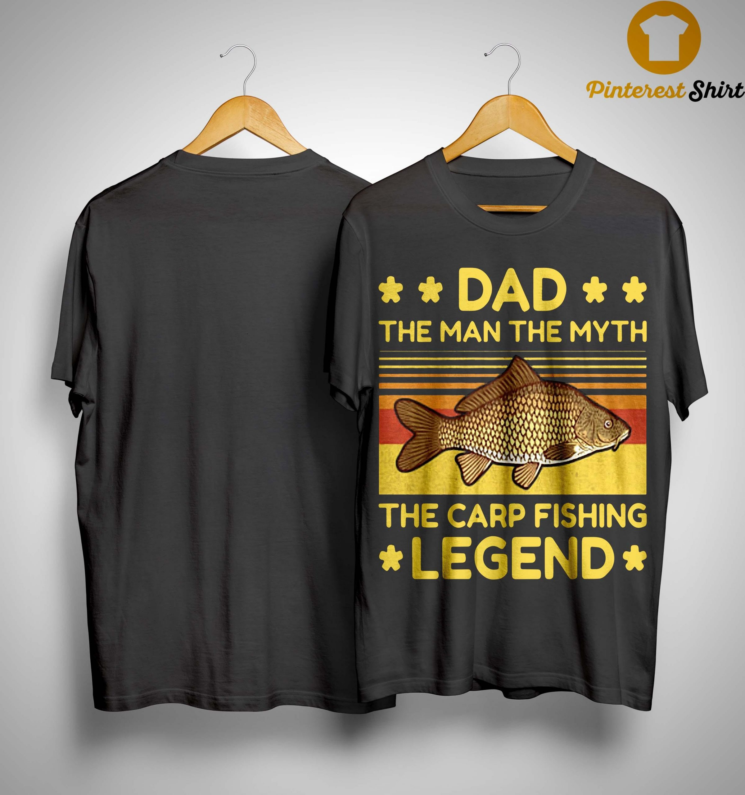 Vintage Dad The Man The Myth The Carp Fishing Legend Shirt