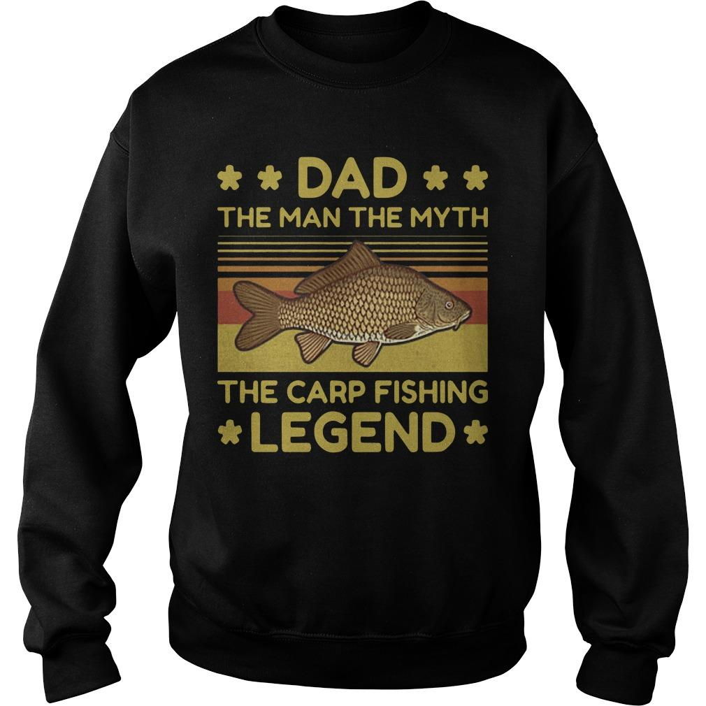 Vintage Dad The Man The Myth The Carp Fishing Legend Sweater